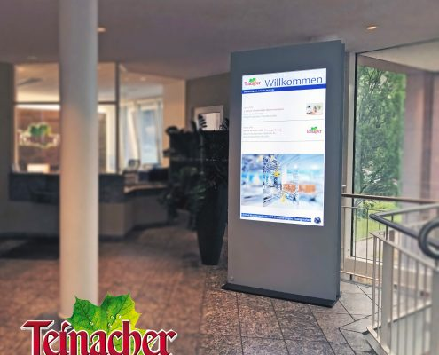 Teinacher welcome-tec Infoscreen DESIGN 65